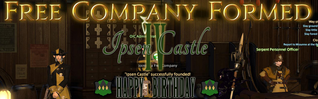 Happy 4th Birthday Ipsen Castle